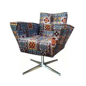 Poltrona Apolo - Palito Giratória - Cadeira Decorativa Plus