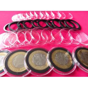 Capsula Premium Moneda 20 Pesos 32 Mm Lote De 10 Pìezas C/a