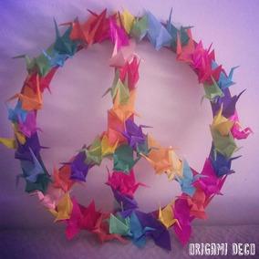 Simbolo De La Paz, De Grullas De Papel ! Origami Deco