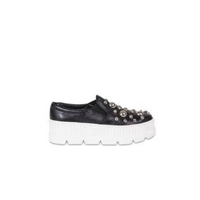 Zapatillas Mujer - Pancha Cala - Cuero - Florte