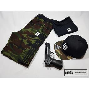 Pants, Playera Y Gorra Outfit Camuflageado The Villacio