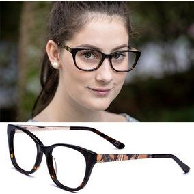 Armação Oculos Grau Feminino Importado Vo28 Acetato Original