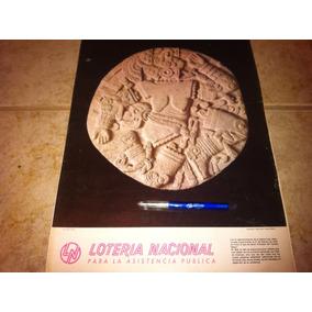 Calendario 1980 Lotería Nacional Figuras Arqueologicas.