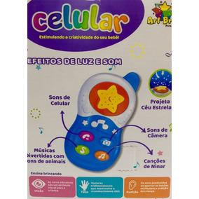 Celular De Brinquedos Para Bebês Que Projeta Céu Estrelado