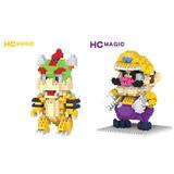 Wario Y Bowser Mario Bros Figura Armable Mini Blocks 2x