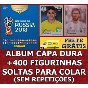 Copa 2018 Album Capa Dura + 400 Figurinhas Sem Repetições
