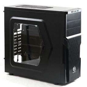 Gabinete Thermaltake Versa H21 Black Fan Led Blue