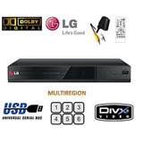 Reproductor Dvd Lg Dp132, Hd, Usb,cd-rw,dvd+rw,multiformatos