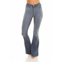 Pantalon Jean Oxford Celeste Plus Mujer Marca By Hit