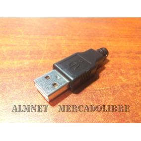 Conector Usb Macho Para Soldar O Reparaciones (2 Pzas)