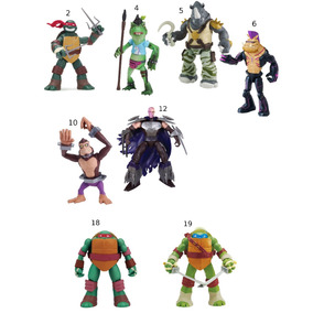 Bonecos Tmnt Tartarugas Ninjas/vilões Br030/br118 Multikids