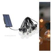 Guirnalda Kermesse 20 Luces Led Panel Solar Batería Litio