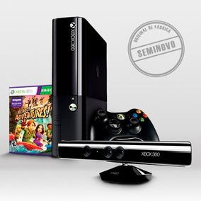 Xbox 360 Super Slim + Kinect + Jogo Adventures - Seminovo