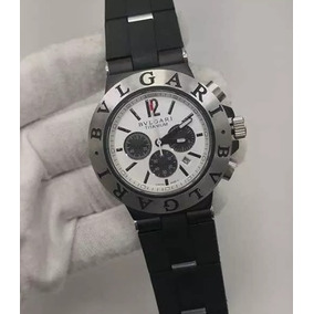 b96e0aa2206 Relogio Bvlgari Titanium Aco Perfeito De Luxo Masculino - Relógios ...