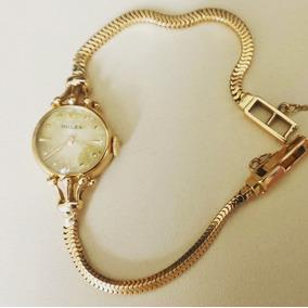 Relógio Feminino Rolex Pulseira Ouro 18k Década 50 Coleção
