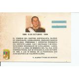 Invitación A Misa Natalicio Gral. Juan D. Perón 1984
