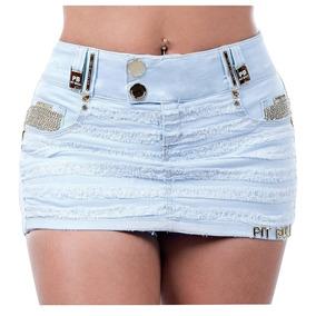 Short Saia Pitbull Pit Bull Jeans Lançamento Sexy 24722