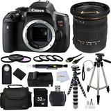 Cámara Fotográfica Canon Eos Rebel T6i Dslr Con Sigma 1...