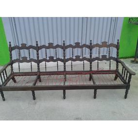 Antigo Sofa Colonial Jacaranda De 3 Lugar Fvr