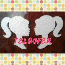 Silueta De Barbie Telgopor Blanco