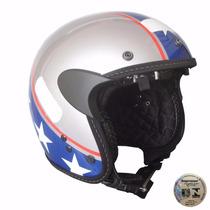 Capacete Custom Kraft Old School American - Harley Shadow