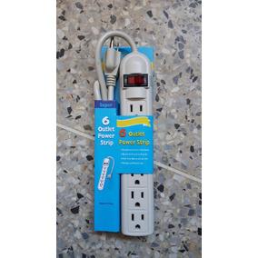Regleta Electrica 6 Tomas 125v
