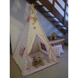 Carpa India Tipi Tepee Teepee Base Acolchada + 2 Almohadones