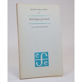 Antología Personal Salvador Elizondo Archivos Fondo 4ele Lm