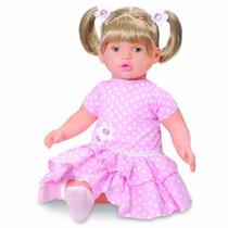 Boneca Grande 60cm Baby Angie Fala 51 Frases Brinquedos Anjo