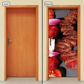 Adesivo Decorativo De Porta - Comida - Carne - 878mlpt