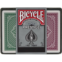 2 Decks De Cartas Bicycle Prestige Poker 100% Plastico Jumbo