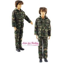 Roupa De Militar Para O Boneco Ken ( Barbie ) * Uniforme