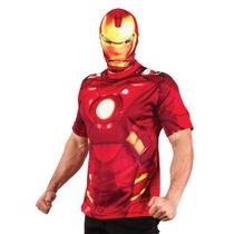 Fantasia Homem De Ferro Iron Man Adulto Casual C/ Mascara