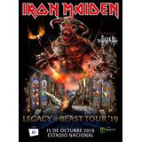 Entradas Iron Maiden. Legacy Of The Beast Tour19 Pacif. Bajo