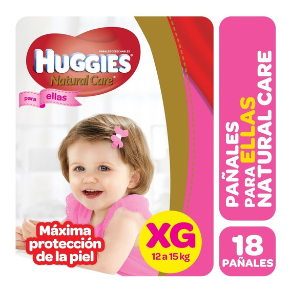 Pa?ales Xg Huggies Natural Care Ella X 18u.