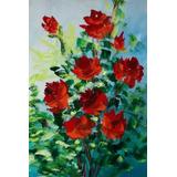 Maravilhoso Imperdível Barato Quadro Rosas Vermelhas