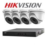 Kit 4 Camaras  Seguridad Hikvision Dvr Full Hd