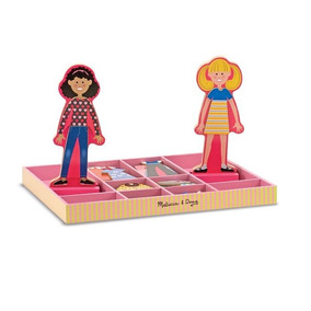 Abby Emma Magnetic Wooden Dress Up Dolls