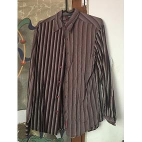 Camisa Filter Company Brown Wine Moda Hombre Fashion Retro
