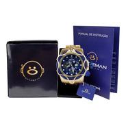 Relógio Masculino Spaceman Analógico + Caixa Premium Ros58