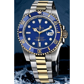 Reloj Combinado Acero Oro Azul Submariner Automatico