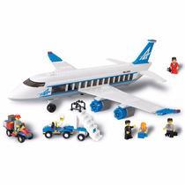 Blocos Encaixe 434 Peças Avião De Passageiros Xalingo