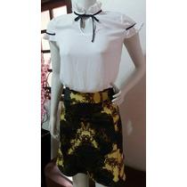 Conjunto Moda Evangelica Executiva Social Saia+blusa Kit