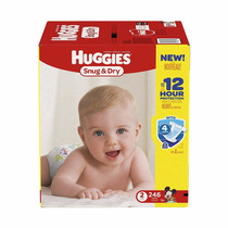 Pañales Huggies Little Snugglers Tamaño 2 246 Pcs Bebe Paque