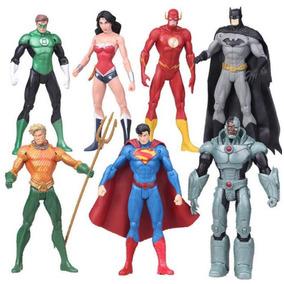 7 Bonecos Liga Da Justiça Mulher Maravilha Batman Aquaman .