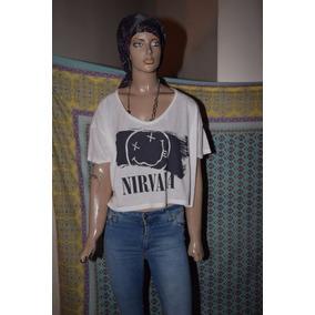 47 Street Remera Nirvana Estampada En El Frente