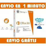 Office 365 Para Windows/mac Suscripción 1 Pc