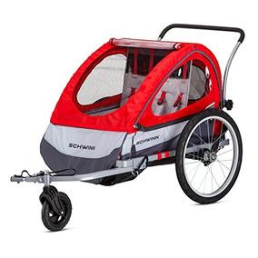 Remolque Doble De La Bici De Schwinn Trailblazer, Rojo