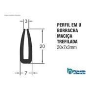 Borracha Perfil U Para Acabamento 20x7x3mm - Metro Linear