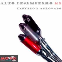 Escape Ponteira Alumínio Ks Xre 300/falcon/tornad (não Dore)